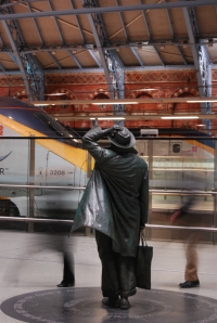 John Betjeman waits for Eurostar