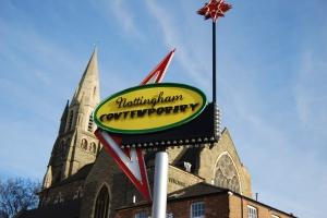 Nottingham Contemp sign