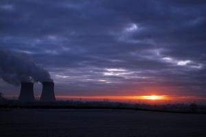 Sunrise behind Power Station
