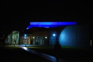 Lakeside Arts Centre at night