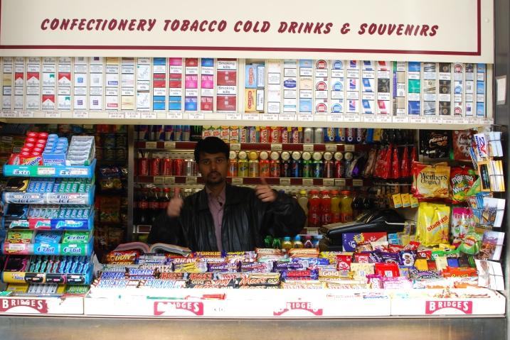 Man in a sweet shop