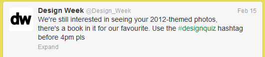 Design Week tweet